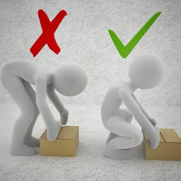 Manual Handling Assessment correct lifting
