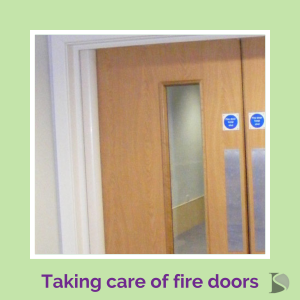 Title image for article taking care of fire doors